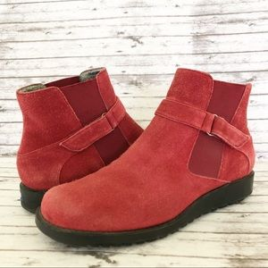 Keds Red Suede Leather Ankle Boots Booties 8.5